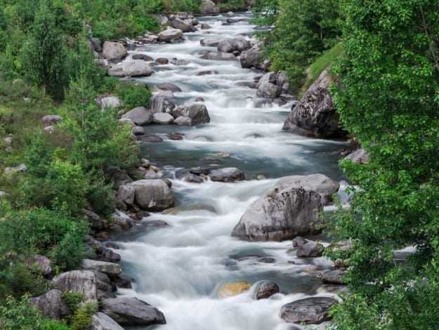 The Beas River in Manali,