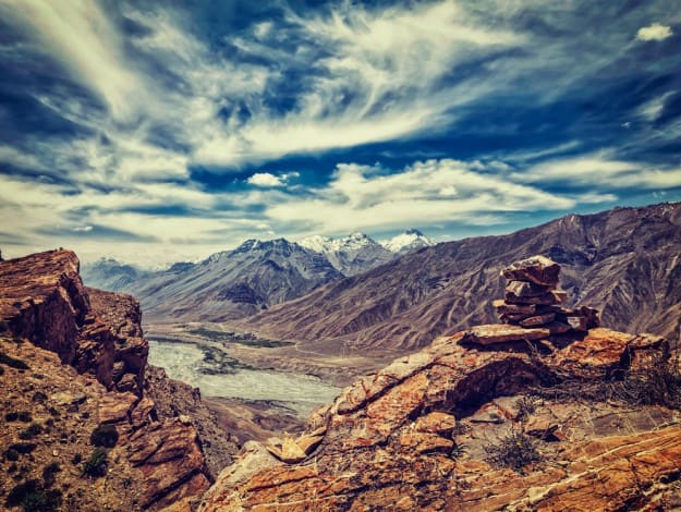 of Spiti valley in Himalayas.