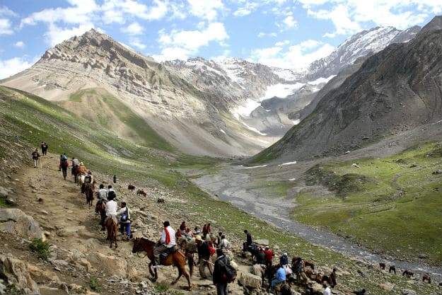 Pilgrims at the Amarnath Yatra