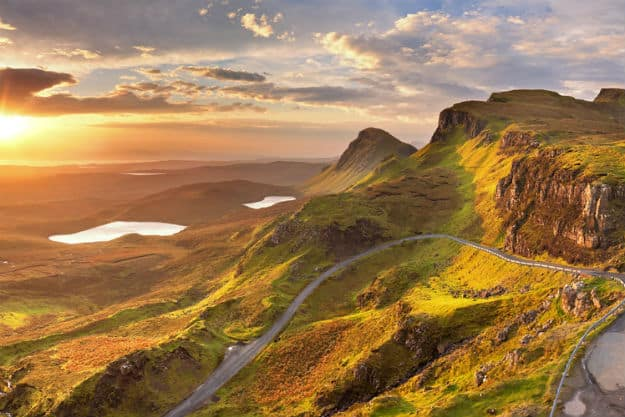 The Scottish Highlands are a stark contrast to the African landscape