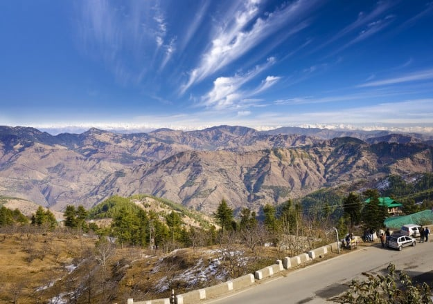 Valley view of Shimla