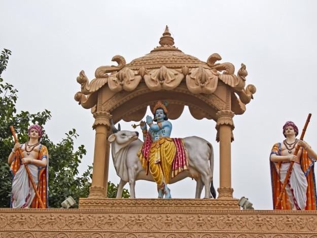 Detail of the gates of Krishna Janma Bhumi
