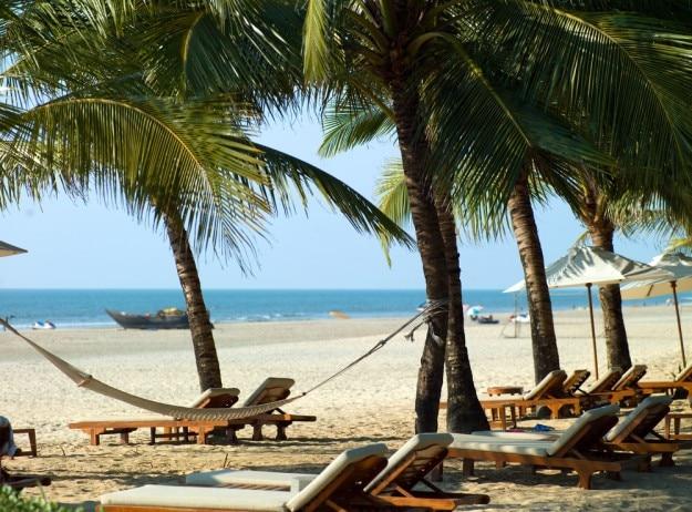 Photo perfectly beautiful beach Palolem in Goa in India