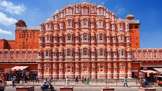 Hawa Mahal, Jaipur; a common sight during cycle tours