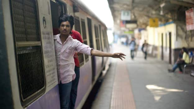 A local train in Mumbai