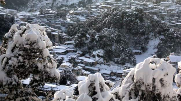 Snow in Mussoorie