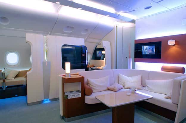 A380 first class compartments