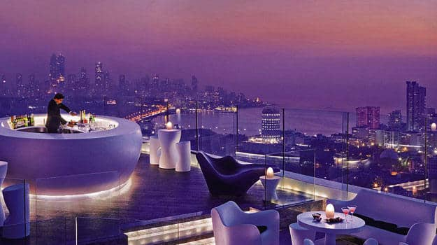 Aer, a rooftop restaurant in Mumbai