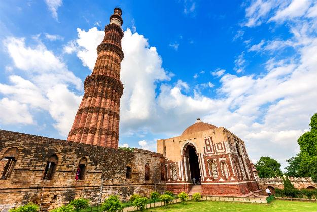 The famous Qutub Minar complex in Delhi