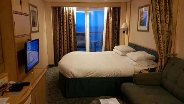 A room overlooking the Sea onboard Royal Caribbean's Mariner of the Seas