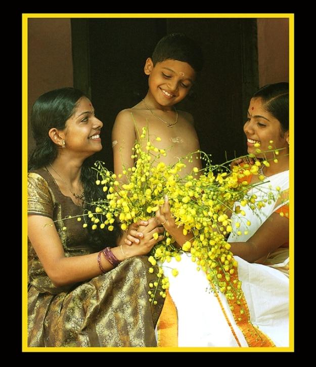 A family preparing for Vishu festivities, Photograph Courtesy: ragesh ev/Creative Commons