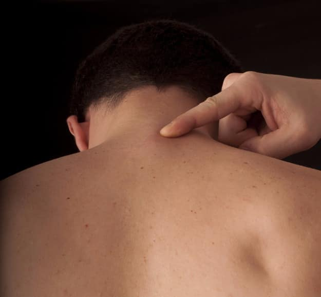 Measure from the C7 vertebra at the base of your neck