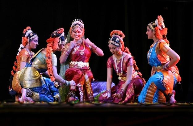 Kuchipudi dance being performed in Hyderabad