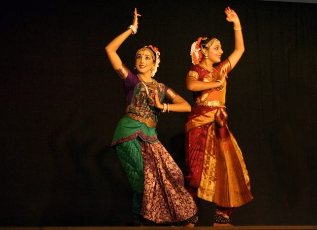 Disciples of Bharatanatyam, a dance form that originated in Tamil Nadu