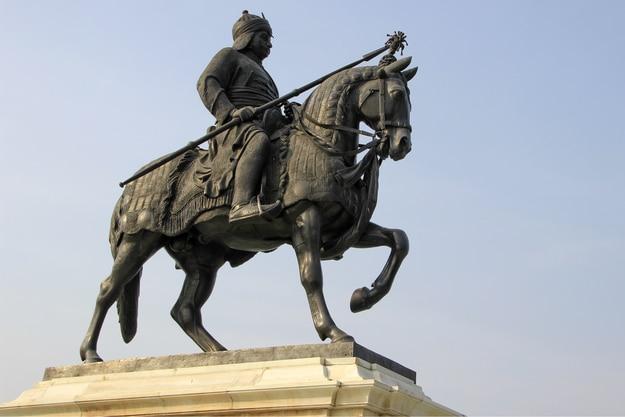 Statue of Maharana Pratap at Pratap Smarak, Moti Magri Hill, Udaipur, Gujarat