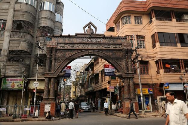 Thakurbari main gate, home of Rabindranath Tagore at Jorasanko, Kolkata