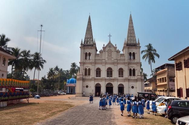 Santa Cruz basilica colonial Church in Fort Kochi