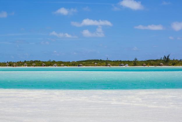 Tropical beach in Cayo Largo Paraiso beach. Cuba