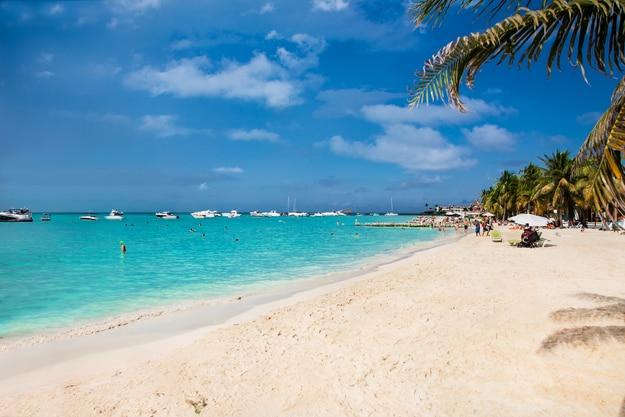 Norten beach on Isla Mujeres island near Cancun in Mexico