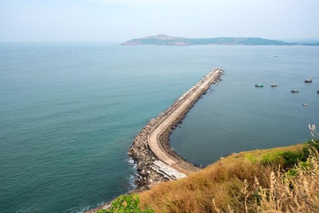 Sea view from Bhagwati fort, Ratnagiri
