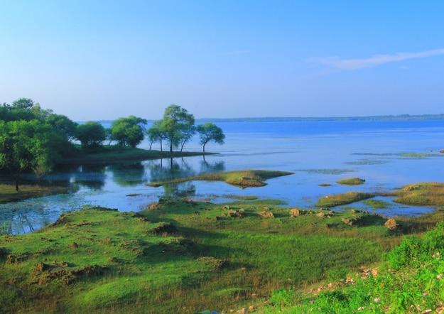 Natural view of Mukutmanipur dam
