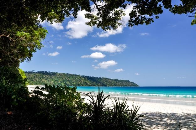 Stunning view of Radhanagar Beach on Havelock Island