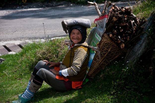 Village woman in Pelling, Sikkim