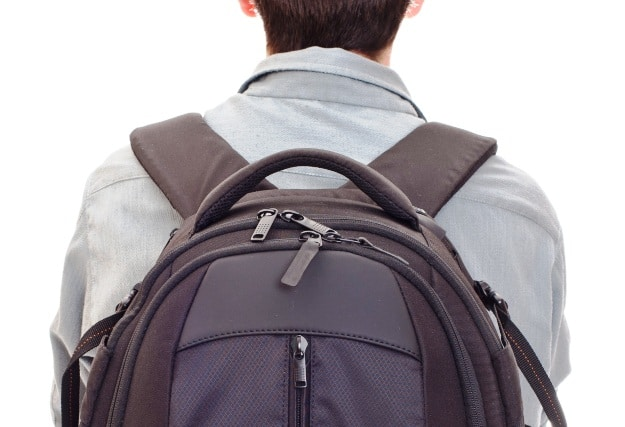 The yoke is the area where the two shoulder straps converge.
