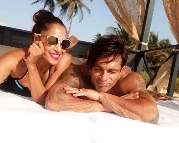 Bipasha Basu and Karan Singh Grover beach vacation