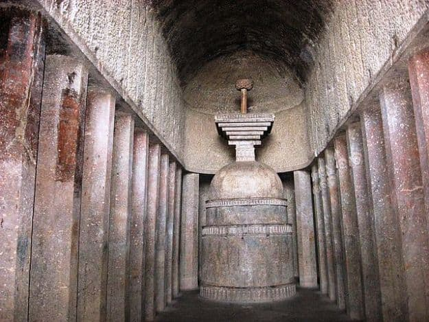 The Chaityagrha in Bedse Caves, Photograph Courtesy: Himanshu Sarpotdar/Creative Commons