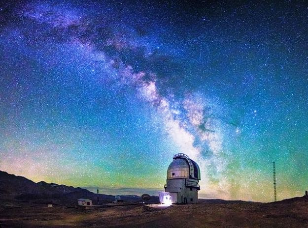 Milky Way over Indian Astronomical Observatory, Hanle, Photograph Courtesy: Navaneeth Unnikrishnan/Wikimedia Commons