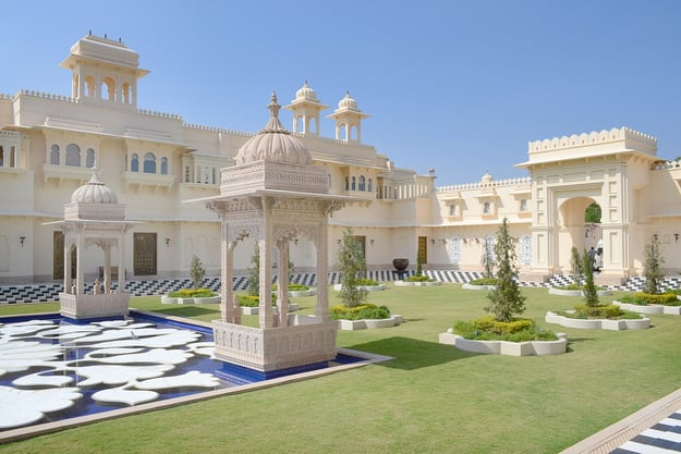 The Oberoi Udaivilas on Lake Pichoola in Udaipur, Rajasthan