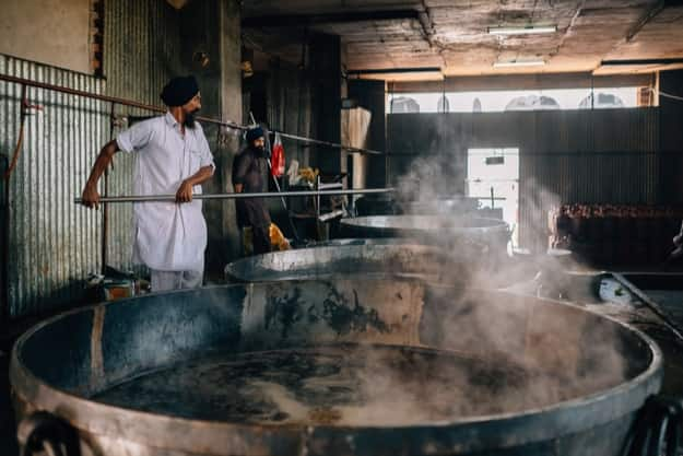 Cooks preparing Langar at Golden Temple, Amritsar