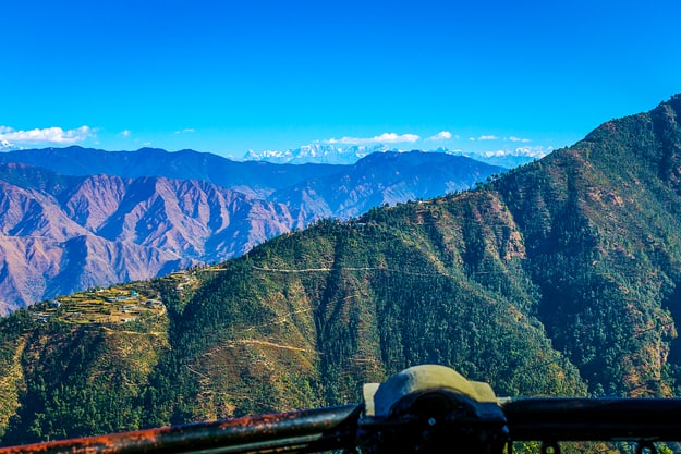 View of himalayas from Mussoorie