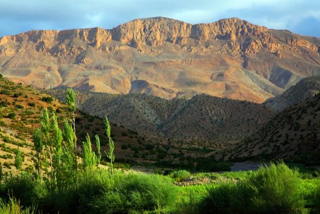 The Atlas Mountains of Morocco; Morisson cycled through the mountain range in the Tour d'Afrique