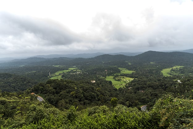 View of Coorg from Raja's Seat