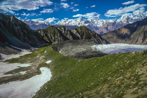 Stunning view of Himalaya mountains from the Rakaposhi base camp