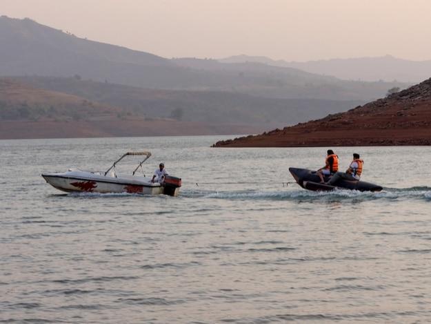 Boat ride at Panshet Lake