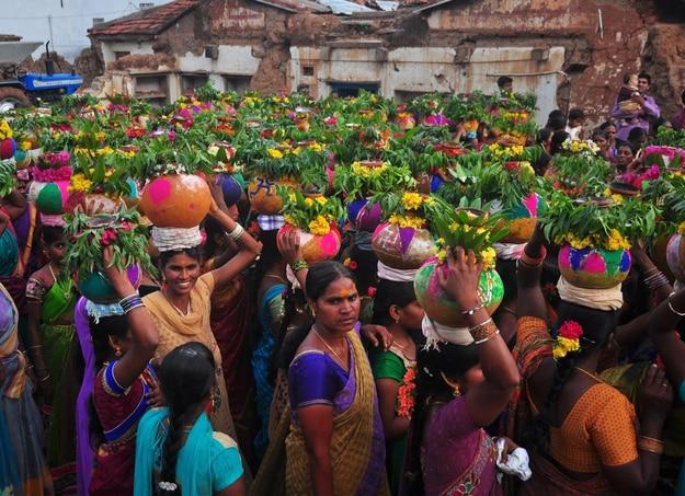 Bonalu festival celebrations at Telengana