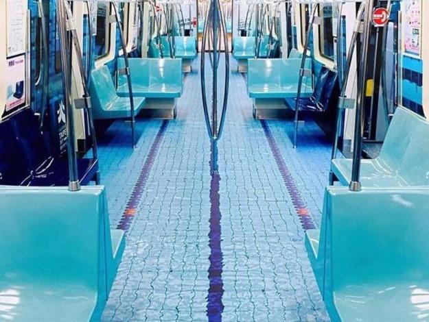 Taipei metro train car now has a swimming pool and people - Metropolitan swimming pool karachi ...