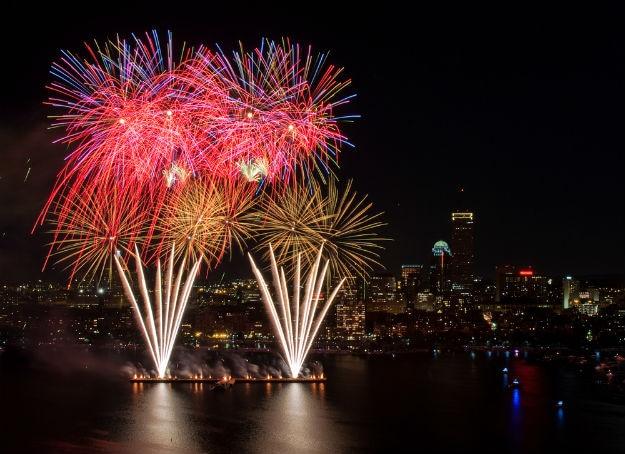 July 4th fireworks display in Boston