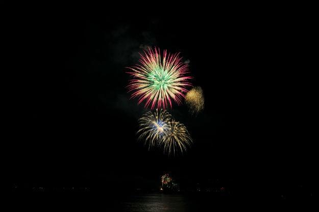 July 4th fireworks display in Lake Tahoe