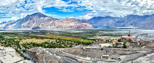 Marvelous Nubra Valley landscape in Ladakh