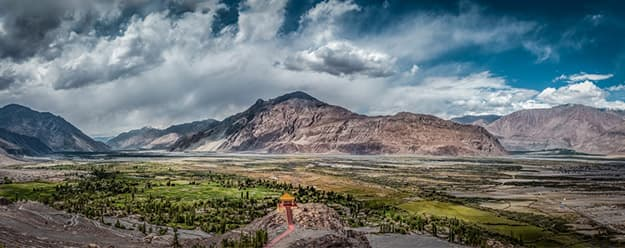 Panoramic view of Nubra Valley