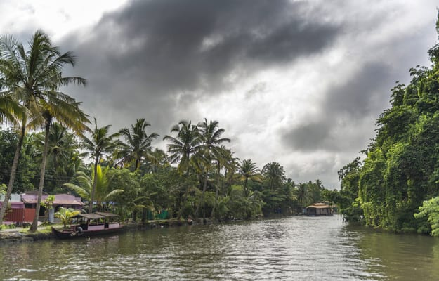 Houseboat in the backwater, Kumarakom