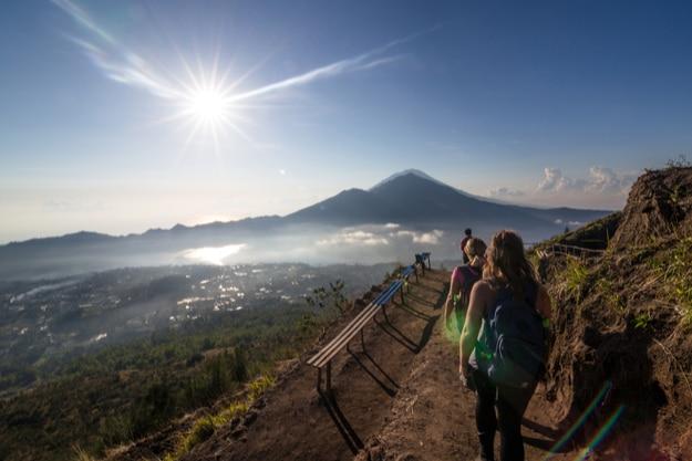 Hiking at Mount Batur