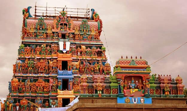 Rajagopalaswamy Temple, Tiruvarur, Photograph courtesy: Mlakshmanan/Wikimedia Commons