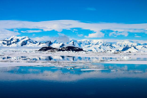Antarctica blue landscape
