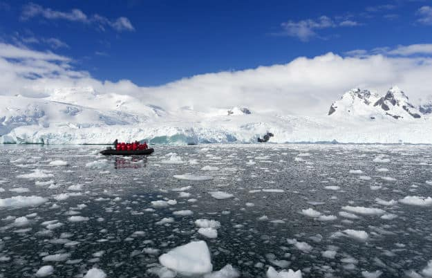 Researchers in Antarctica
