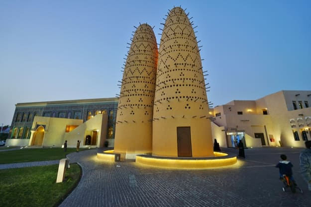 Traditional Qatari pigeon towers at the Katara Cultural Village